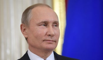 Russian President Vladimir Putin attends a news conference at the Kremlin in Moscow, Russia, January 17, 2017.