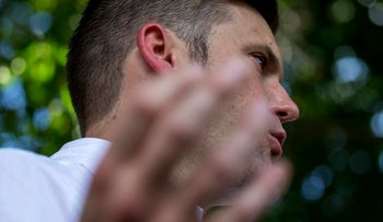 White nationalist Richard Spencer gives remarks after a white nationalist rally was declared an unlawful assembly on Saturday Aug. 12, 2017, in Charlottesville, Va