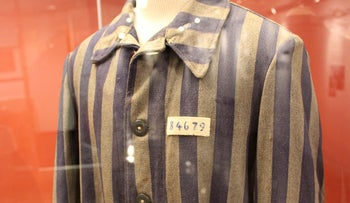 A jacket once worn by a Holocaust survivor is seen on display at the Kuperferberg Holocaust Center in the Queens borough of New York, U.S., November 15, 2016.