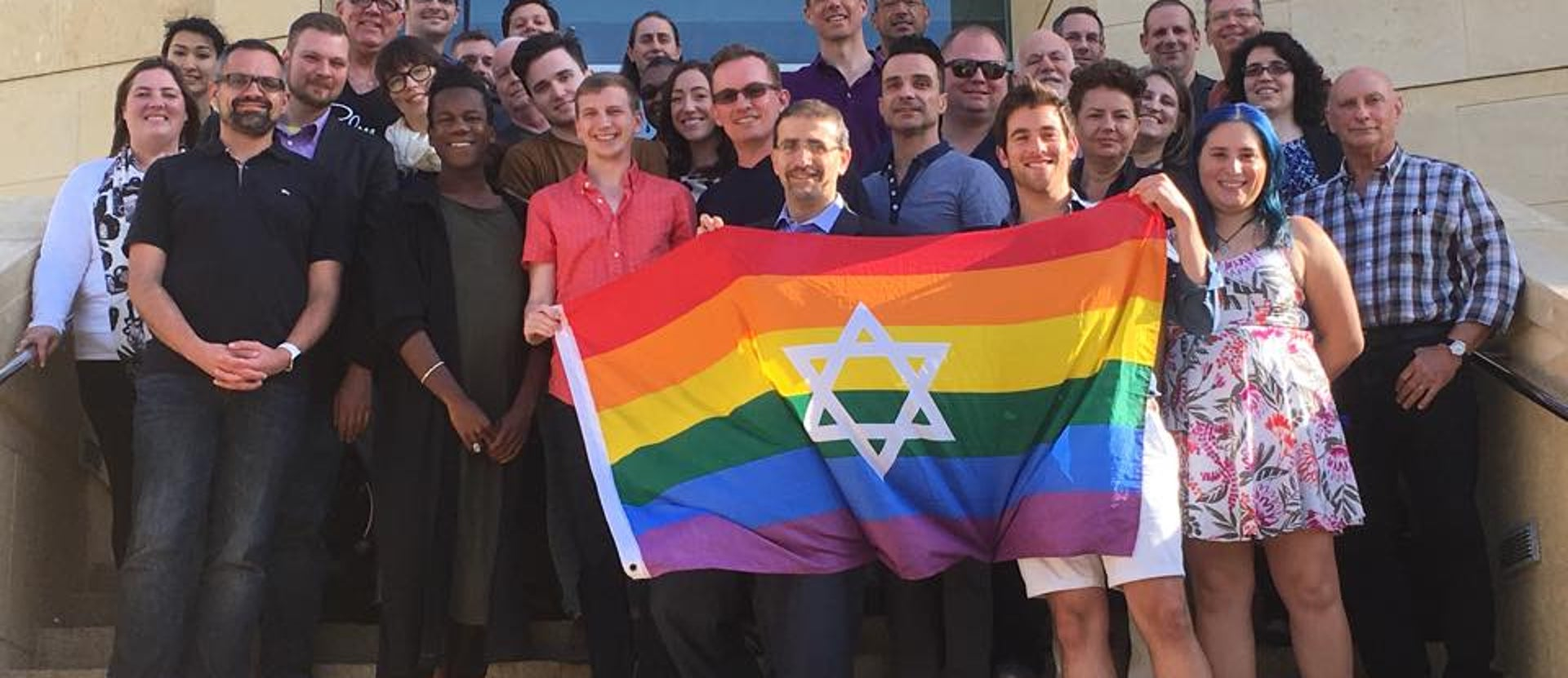 U.S. Ambassador Dan Shapiro meets with A Wider Bridge, an American LGBT rights group that visited Israel in November 2016.