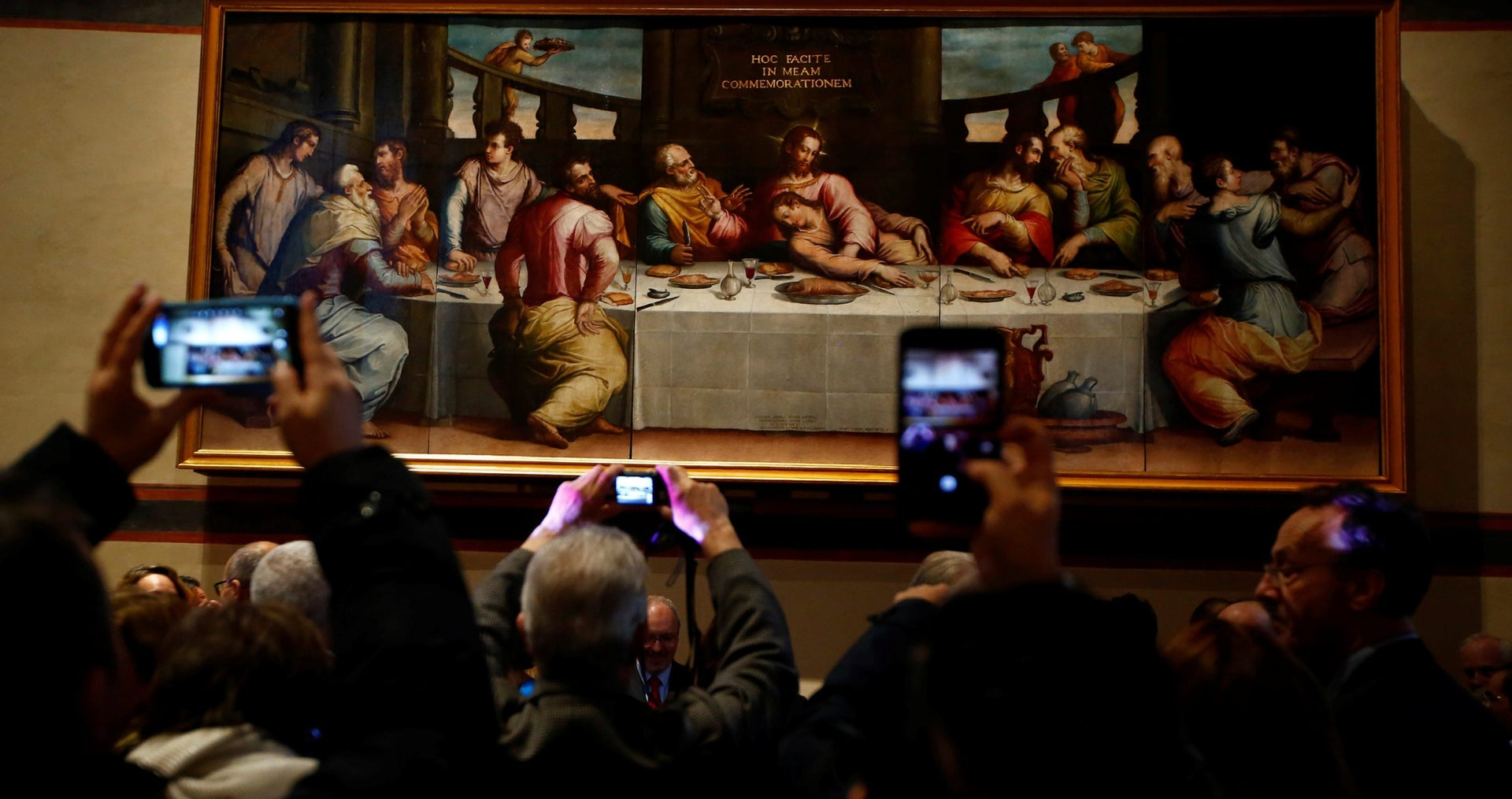 The unveiling of Giorgio Vasari's 'Last Supper' in November 2016.