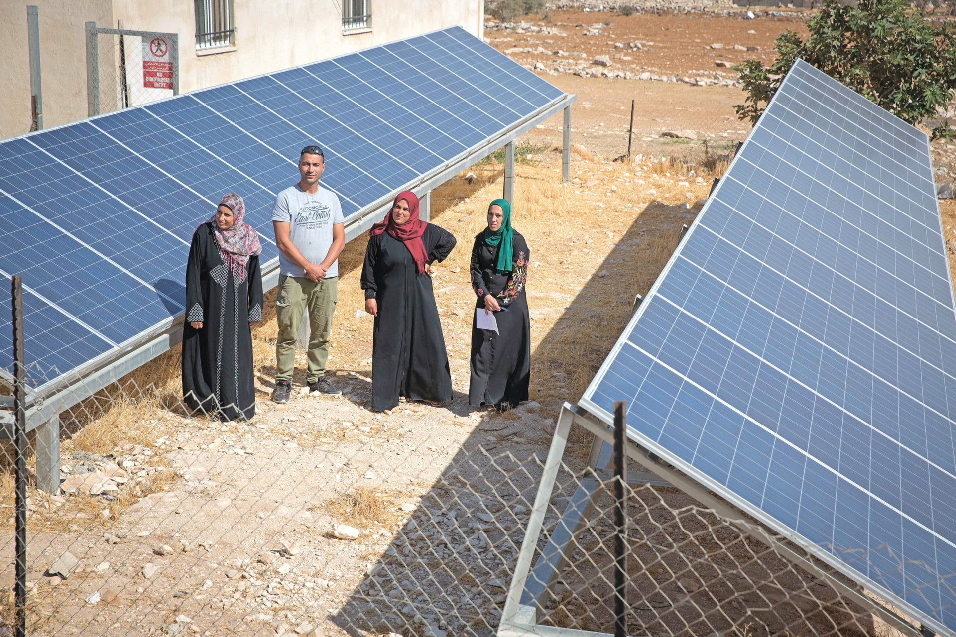 Electricity returns to Palestinian village Jubbet Adh-Dhib, southeast of Bethlehem, in the West Bank, eight months after Israel confiscated its hybrid (solar and diesel) electrical system