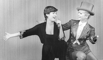 Carrie Fisher and Debbie Reynolds in 'Bright Lights.' glamour.