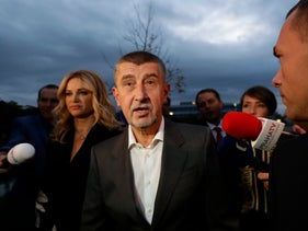 The leader of ANO party Andrej Babis in Prague, Czech Republic on Oct 21, 2017