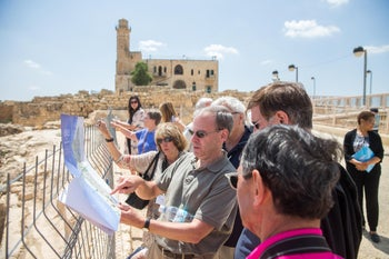 J Street President Jeremy Ben-Ami on a study tour in Israel.