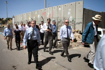 J Street President Jeremy Ben-Ami on a tour of the separation wall.