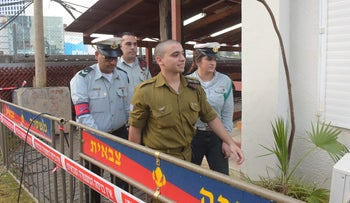 Elor Azaria arrives in court last month.