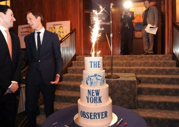 The New York Observer's 25th anniversary party at The Four Seasons Restaurant on Thursday March 14, 2013 in New York.