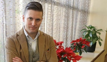 In this Dec. 6, 2016, file photo, white nationalist Richard Spencer poses between interviews in College Station, Texas