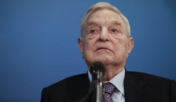 George Soros at the World Economic Forum in Davos, Switzerland, January 19, 2017.