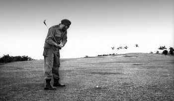 Fidel Castro, Cuba's Revolutionary Leader, Dies at 90. Here: pictured playing golf in Havana in 1960.