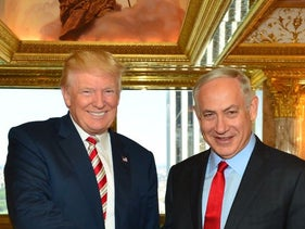 Donald Trump and Benjamin Netanyahu at Trump Tower, September 25, 2016.