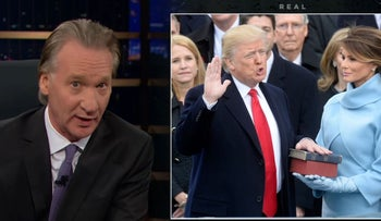 Bill Maher host of 'Real Time' discusses the inauguration of Donald Trump.