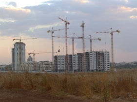 A construction site in Kiryat Gat, southern Israel.
