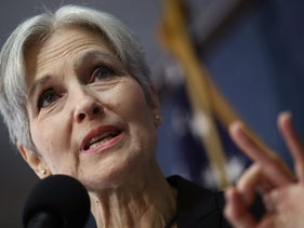 Green Party presidential candidate Jill Stein campaigning in Washington, D.C., Aug. 23, 2016.