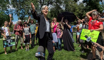 Green Party presidential candidate Jill Stein campaigning in Colorado, August 27, 2016.