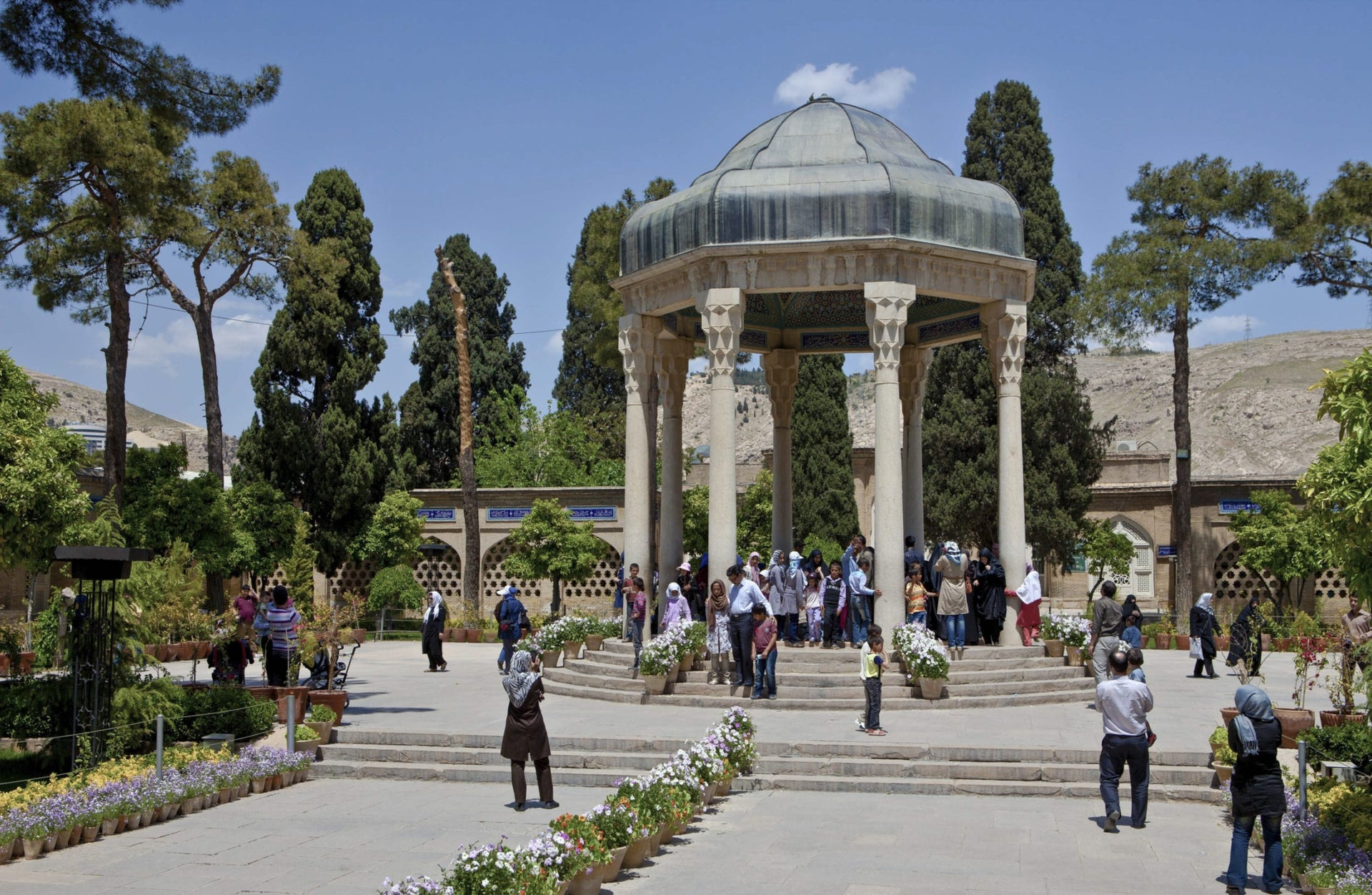Tomb of noted Persian poet Hafez, Shiraz, Iran.