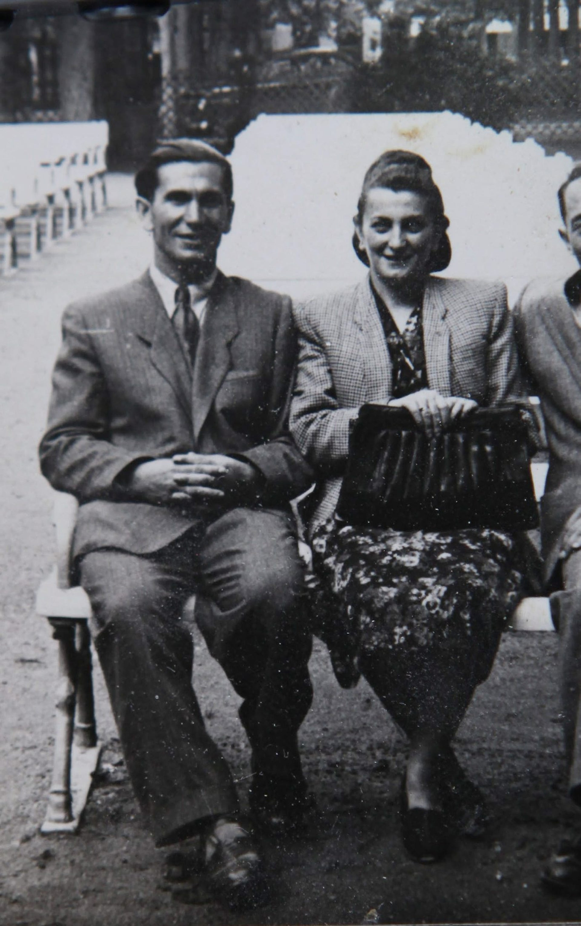 "Yuval Yareach's grandmother Manja Wolfgang and her second husband, Moshe (""Monik""), after the war."