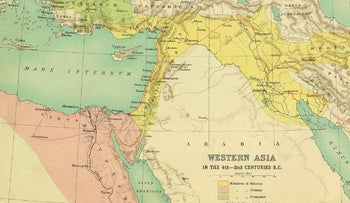 'Western Asia — in the 4th-2nd centuries BCE' from George Adam Smith's Atlas of the Historical Geography of the Holy Land (1915)
