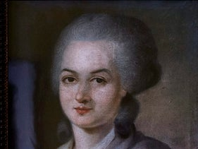 A portrait of Olympe de Gouges.