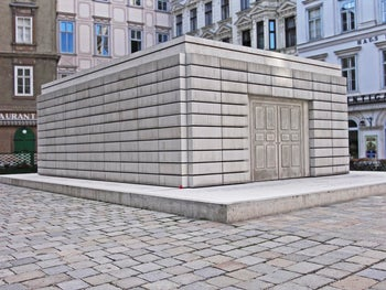 The Nameless Library in Vienna, the central memorial for the Austrian victims of the Holocaust, designed by the British artist Rachel Whiteread, in 2005.