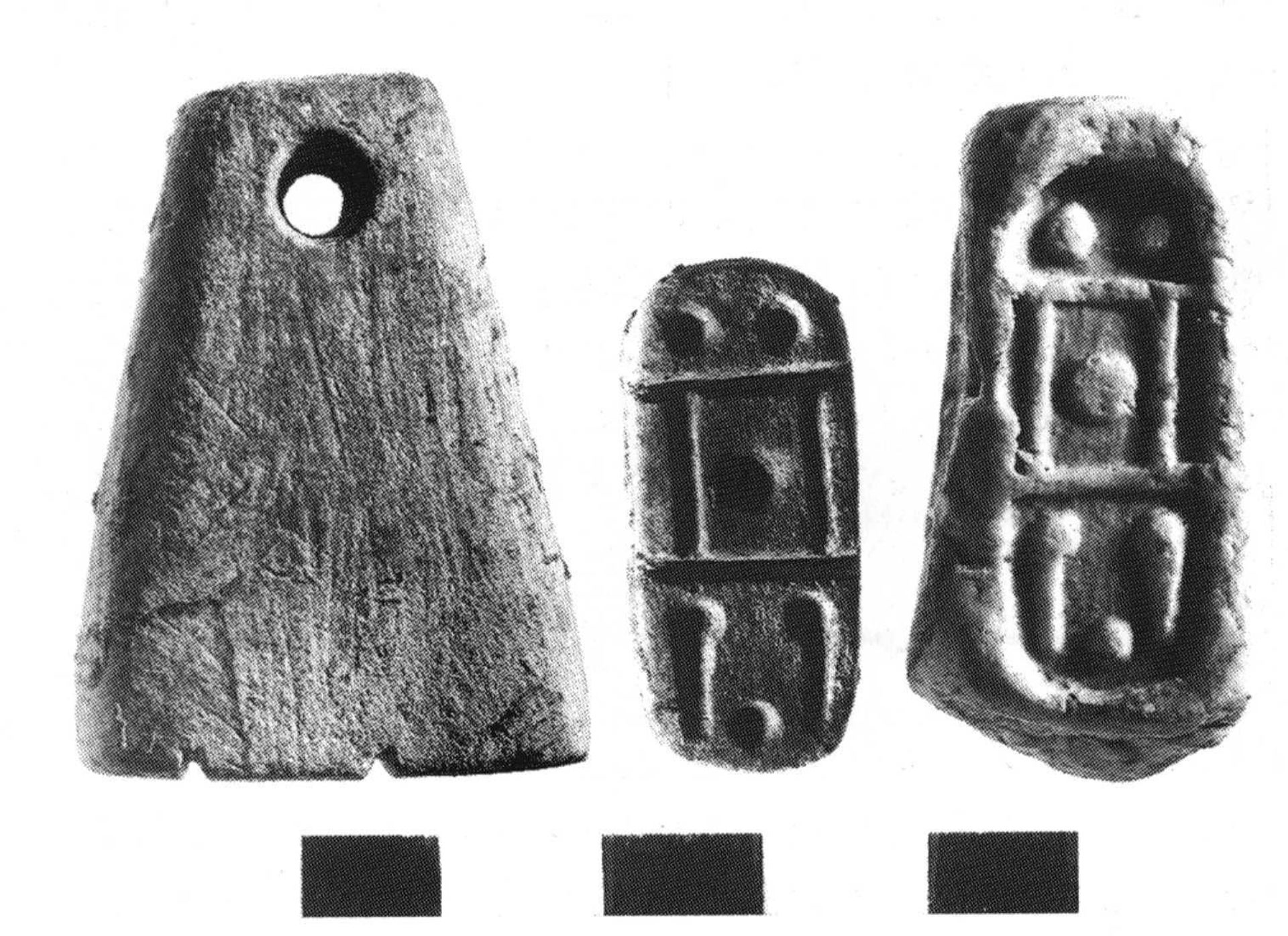 Cyptriot-style stamp-seal in shape of loom weight found at Tel Dan.