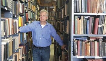 """CYCO bookstore owner Hy Wolfe. """"People have been pronouncing the death of Yiddish for 200 years,"""" he says."""