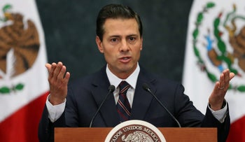 Mexican President Enrique Pena Nieto addresses the media in Mexico City, January 4, 2017.