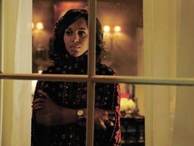 Kerry Washington as Olivia Pope in a scene from the premiere of the sixth season of 'Scandal.'