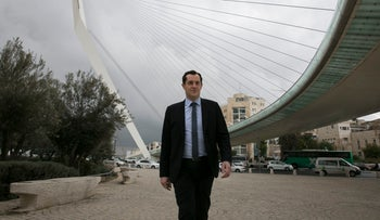 Nicolas Bay, the French National Front's secretary general, in Jerusalem on January 26, 2017.