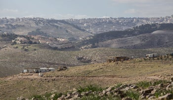 The outpost near Kfar Adumim currently functions as a site for rehabilitating radical settler youths. January 2017