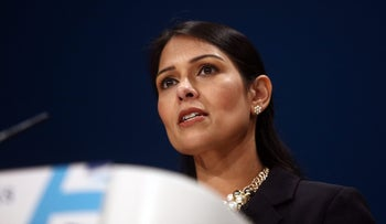 Priti Patel, U.K. international development secretary, speaks during the first day of the party's annual conference in Birmingham, U.K., on Sunday, Oct. 2, 2016.
