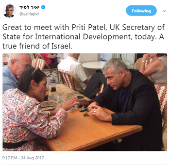 Patel meeting with Lapid.