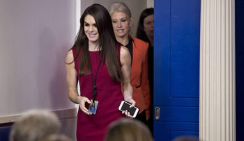 Hope Hicks, White House director of strategic communications at the White House in Washington, D.C., U.S., on Monday, Jan. 23, 2017.