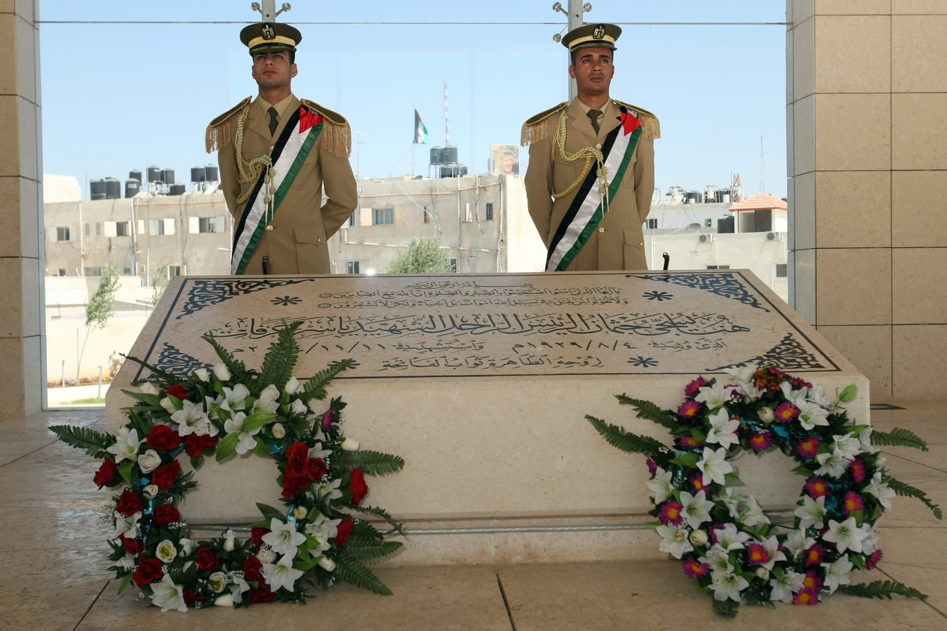 The tomb of late Palestinian leader Yasser Arafat in the West Bank city of Ramallah.