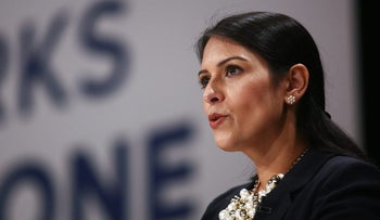 Priti Patel, Britain's international development secretary, speaks at a conference in Birmingham, U.K., October 2, 2016.