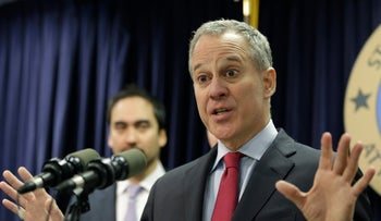 Photograph of New York Attorney General Eric Schneiderman, lead author of protest statement by Democratic attorneys general in 15 states and Washington DC.