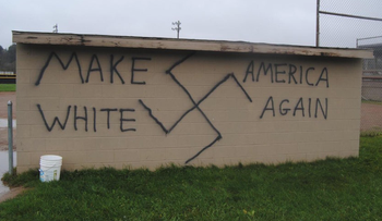 Nazi-themed graffiti was found in the upstate New York town of Wellsville on November 9, 2016.