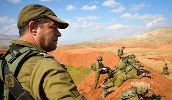 Brig.Gen. Ofer Winter commands a Givati Brigade exercise in January 2015.