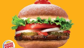 Burger King's SufganiKing: a Whopper inside two halves of a traditional Jewish donut.