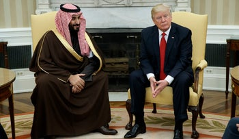 U.S. President Donald Trump meets with Saudi Crown Prince Mohammed Bin Salman, March 14, 2017.
