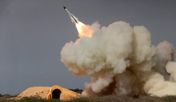 A file photo from the semi-official ISNA news agency of a long-range S-200 missile fired in a military drill in the port city of Bushehr, Iran, December 29, 2016.