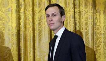 Jared Kushner, U.S. President Donald Trump's son-in-law and adviser in Washington on January 22, 2017.