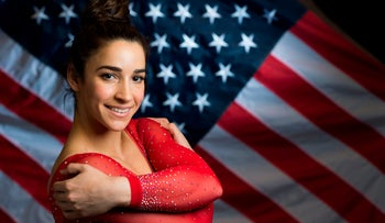 Gymnast Aly Raisman poses for a portrait at the 2016 Team USA Media Summit in Beverly Hills, California.