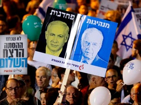 Israelis gather on the 22nd anniversary of the assassination of Prime Minister Yitzhak Rabin, Tel Aviv, November 4, 2017.