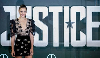 Israeli actress Gal Gadot in central London on November 4, 2017