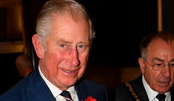 Britain's Prince Charles, Prince of Wales in London on November 11, 2017
