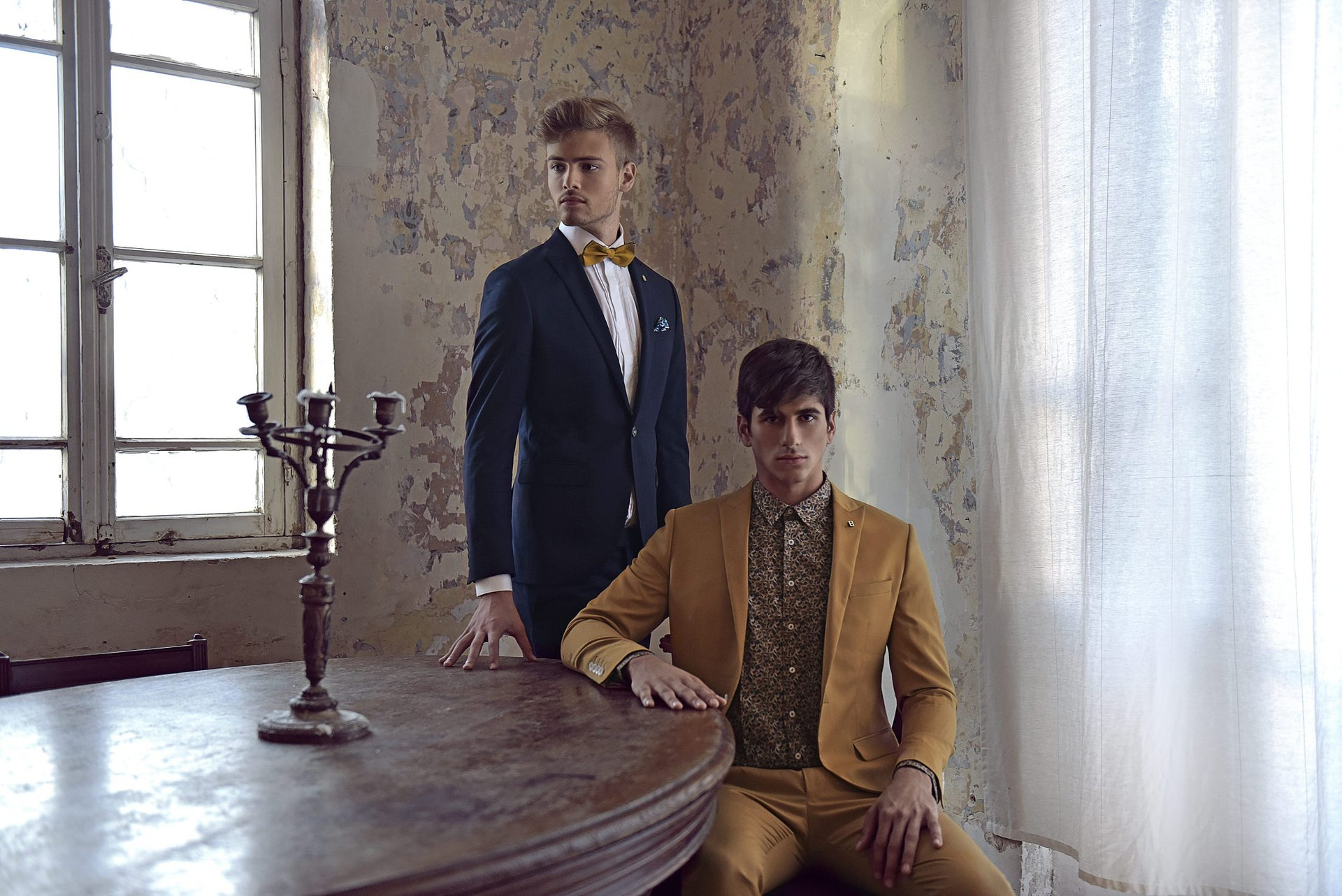 Fancy suits by Bamos Square.