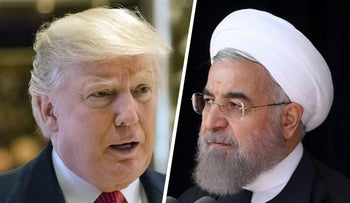 U.S. President-elect Donald Trump and The Iranian President Hassan Rouhani.