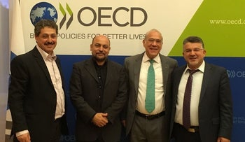 Angel Gurria, second from right, with Israeli Arab lawmakers